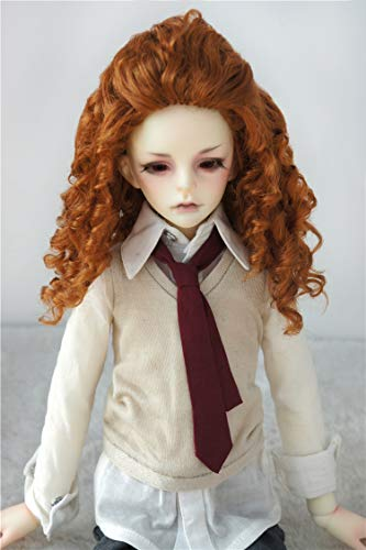 - Doll Wigs JD243 Teddy Bear Curly BJD Wig 1/6 1/4 1/3 YOSD MSD SD Synthetic Mohair Doll Accessories (Light Carrot, 7-8inch)