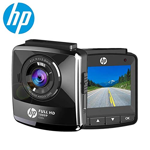 "HP Dash Cam for Cars 1080P FHD DVR Vehicle Dashboard Camera Recorder with 2.4"" LCD Screen"