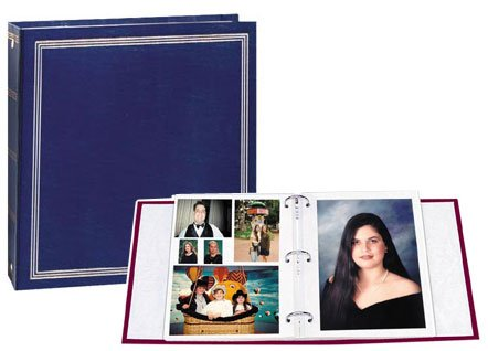 Magnetic 3-Ring Photo Album with 100 Pages, Holds 5