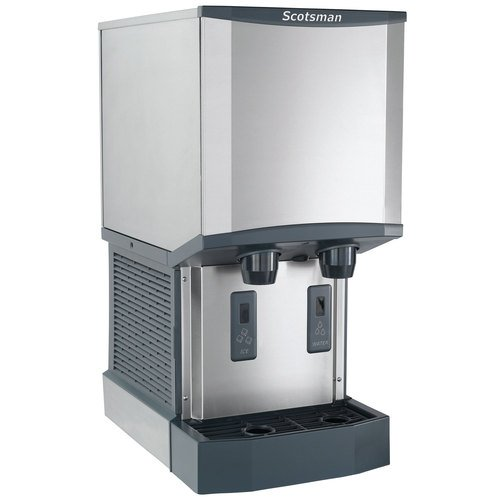 (Scotsman HID312A-1 Meridian Countertop Air Cooled Ice Machine and Water Dispenser - 12 lb. Bin Stora)