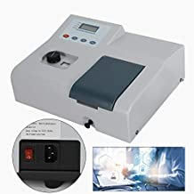 Visible Spectrophotometer 110V Portable Laboratory Analytical Equipment 6Nm Tungsten Lamp 350-1020NM Wavelength Range LDC Digital Display USA Stock