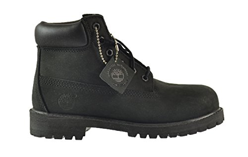 Timberland 6 Inch Premium Little Kids Boots Black 12707 (3 M US) (Timberland Scuff Proof For Kids)