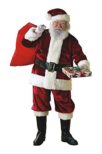 L (Large) Santa Claus Suit Adult Christmas Costume Fancy Dress by Unknown