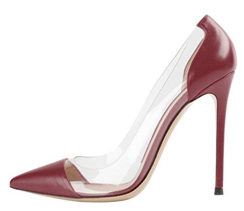 de Wine Altos Mujer red Tacones Altos alta Tacones Ruanlei Tacones elegante ElegantesSalvaje Shoes mujer de Sexy y Cerrado Clásicas de matt Charol Heel fashion Bnq1naxY