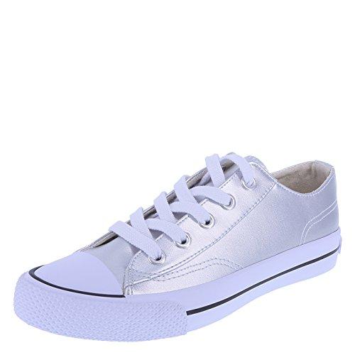 Airwalk Frauen Legacee Sneaker Silber glatt