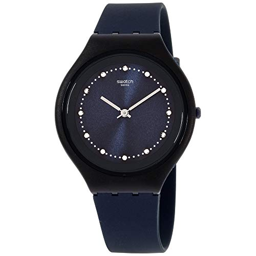 Swatch Skin Skinsparks Blue Dial Silicone Strap Unisex Watch SVUN100