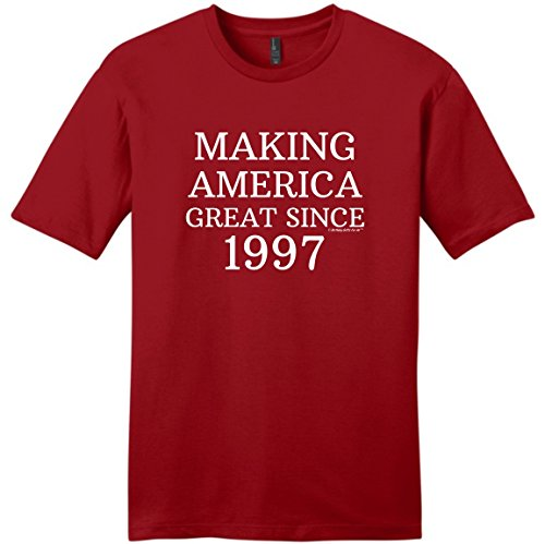 Birthday Gifts For All 21st Birthday Decorations 21st Making America Great Since 1997 Young Mens T-Shirt XL ClRed