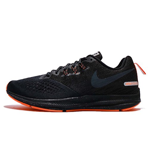 Nike Mens Air Zoom Winflo 4 Shield Running Shoe, Black/Anthracite-Anthracite 13