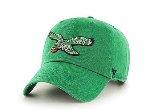 (47 Brand Philadelphia Eagles Clean-Up Throwback Logo Adjustable Hat -)