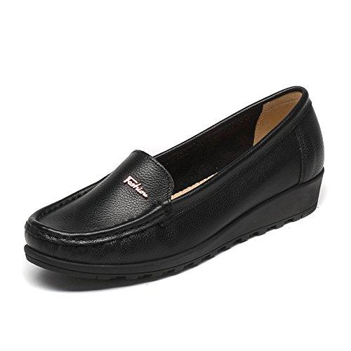 Soja Mujer de zapato Slip Aemember Zapatos fondo mujer negro 35 Fu casual Lok plano Calzado zapatos xqTYwUHq
