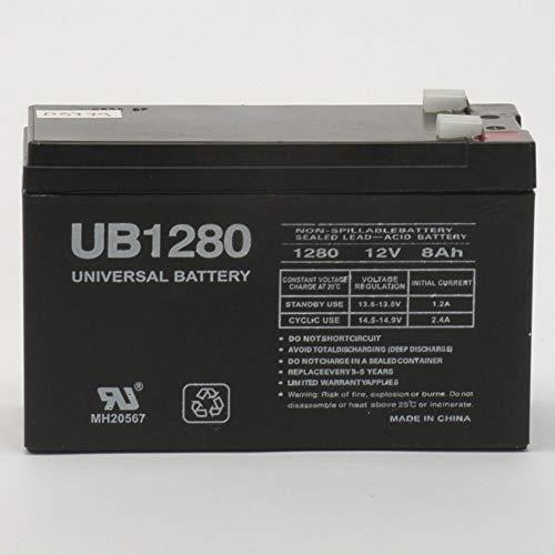 Universal New UPG 85989/D5779 Sealed Lead Acid Batteries (12V; 8 AH.250 TAB TERMINALS; UB1280F2) (Batteries)