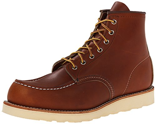 "Red Wing Heritage Men's 6"" Classic Moc Toe Boot, Oro Legacy, 12 M US"