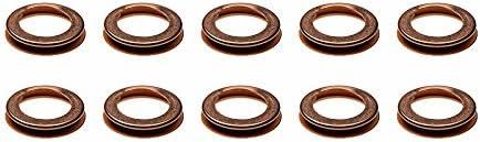 1980-2016 Nissan 10pcs. Lower Oil Pan Drain Plug Crush Washer Gasket OEM NEW