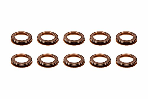 Lower Oil Pan Gasket (1980-2016 Nissan 10pcs. Lower Oil Pan Drain Plug Crush Washer Gasket OEM NEW)