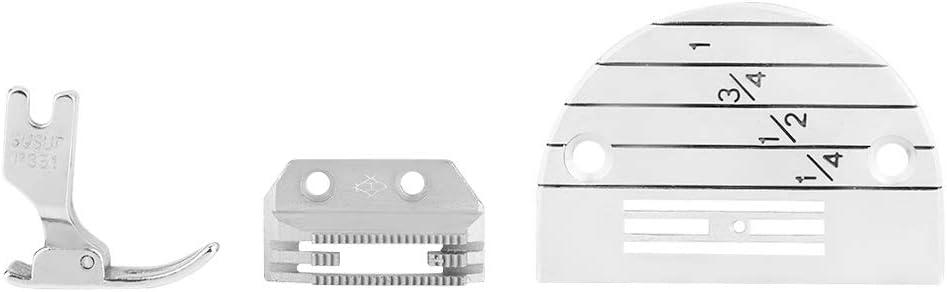 3PCS Hilitand Ensemble de Pieds pour Presseur de Plaque dAiguille dAccessoires de Machine /à Coudre Industriels