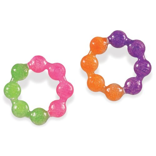 Munchkin Fun Ice Soothing Ring Teether, Colors May Vary, ()