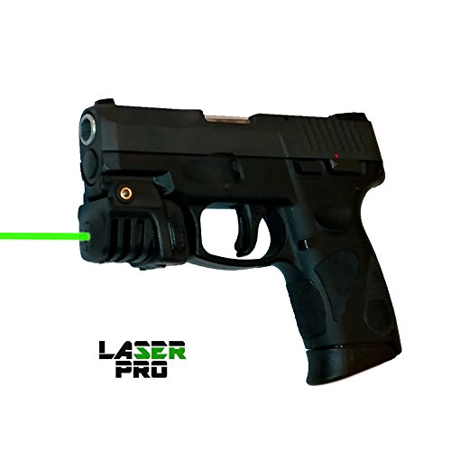 LASERPRO Green Rechargeable Laser Sight for Taurus G2 G2C G2S & Compact Guns & Pistols w/a Rail - Micro USB Charger