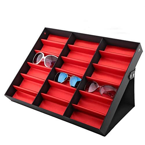 - 18 Grids Glasses Display Stand Sunglasses Storage Box Glasses Jewelry Organizer, Jewelry Watch Organizer, Sunglasses Jewelry Collection Case Holder Box