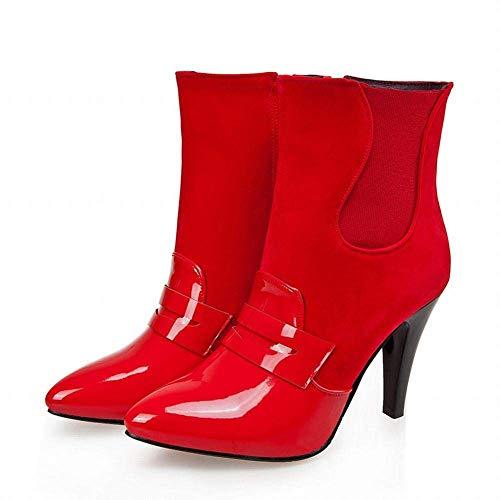 Martin Invernali Da Rosso 36 Dimensione colore A Punta Zhrui stivali Con 40 Donna 43 Caldi Stivali Spillo Eu Inglesi tacchi Albicocca Scarpe Spillo n45nZBXqw6