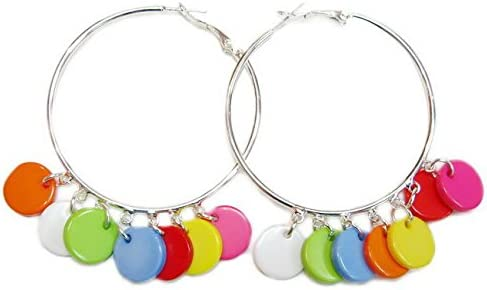 rougecaramel–Bijoux–Pendientes de aro Fantasía con pendants perlas