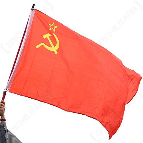Vintage WW2 Style Soviet Hammer and Sickle Red Army Flag
