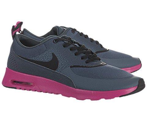 Nike Women's Air Max Thea - Dark Armory Blue /Black-Pink Foil, 7 B US