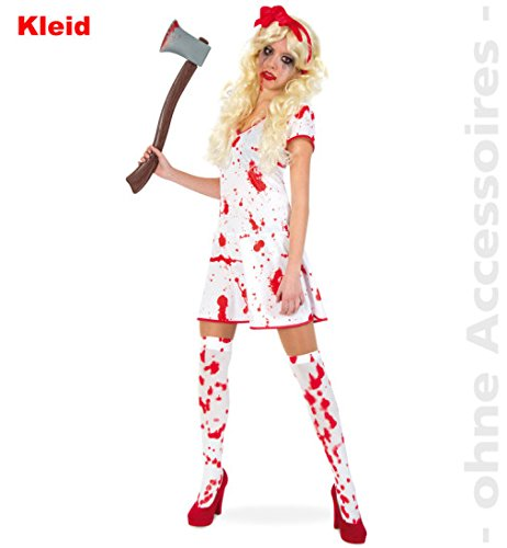 ed94645f11 narrenwelt Bloody Lady Horror abito da infermiera Zombie Teenie Costume da  donna Halloween taglia 34 -