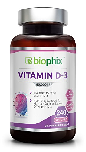 Vitamin D3 50000 IU 240 Vcaps - High-Potency | Strong Bones | Immune Health | Support for K-2