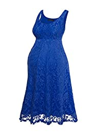 HARHAY Women's Maternity Knee Length Sleeveless Lace Tank Dress 606