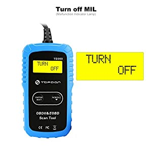 TT TOPDON Car Diagnostic Scan Tool, TD300 Code Reader for Check Engine Light Turnoff, I/M Readiness Check, Coming with 7000 DTC Definitions Dictionary on Manual and Blue Main Unit (Packing)