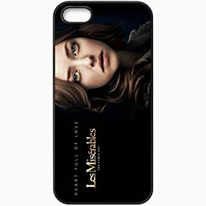 Personalized iPhone 5 5S Cell phone Case/Cover Skin Amanda seyfried in les miserables movies Black