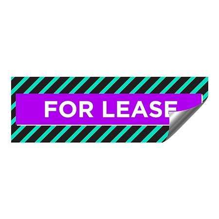 CGSignLab |''for Lease -Modern Block'' Heavy-Duty Industrial Self-Adhesive Aluminum Wall Decal | 36''x12'' by CGSignLab