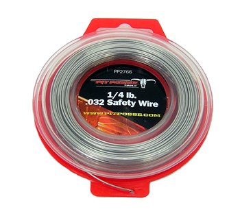 Pit Posse PP2766 Stainless Steel Twist Safety Lock Grip Wire AirCRaft Aviation .032 100Ft - Safety Wire