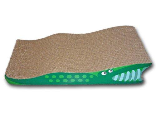 SCRATCH'M Crocodile Cat Scratcher with Catnip, My Pet Supplies
