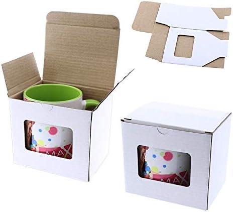 Grupo K-2 Caja De Cartón Para Tazas Con Ventana: Amazon.es: Hogar