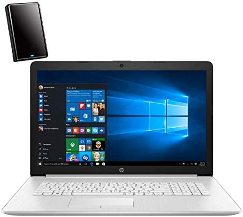 "HP 17 17.3"" FHD Laptop Computer, Intel Core i5 10210U Up to 4.2GHz (Beat i7-7500U), 12GB DDR4 RAM, 1TB HDD, DVDRW, AC WiFi, Remote Work, Backlit Keyboard, Windows 10, iPuzzle 500GB External Hard Drive"