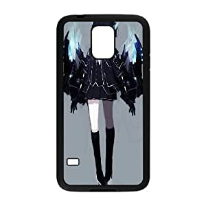 [Black Rock Shooter] Black Rock Shooter Wings Case for Samsung Galaxy S5, Samsung Galaxy S5 Case Anti Fall Cheap for Girls {Black}