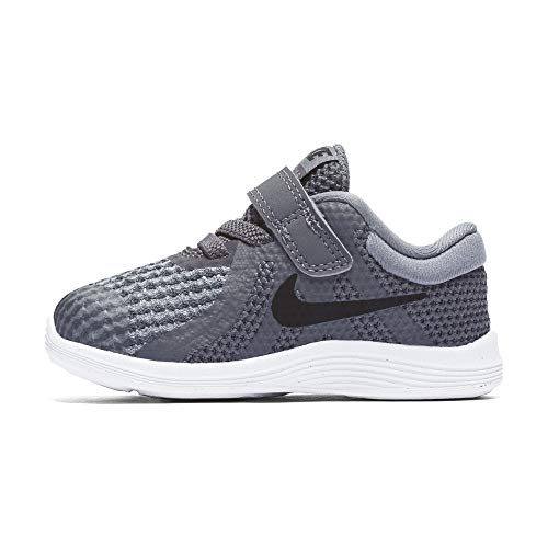 Nike Boys' Revolution 4 (TDV) Running Shoe, Dark Black-Cool Grey-White, 9C Regular US Toddler