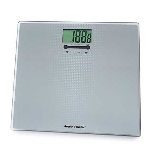 Healthometer Digital Weight Tracking Scale, With Large Large Lighted Display, 400 Pound Capacity, Tempered Glass