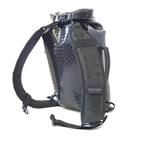 Stealth Travel Bag - Scrubba Stealth Pack - Multifunctional Backpack - Weatherproof Backpack, Portable Washing Machine, Compression Dry Bag and Camping Shower All in One