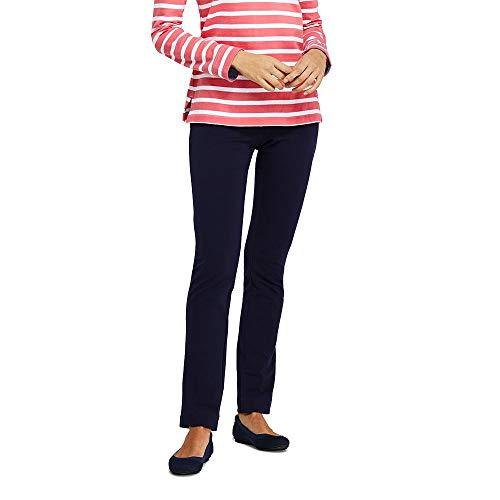 (Lands' End Women's Petite Starfish Slim Leg Elastic Waist Pants Mid Rise, S, True Navy)