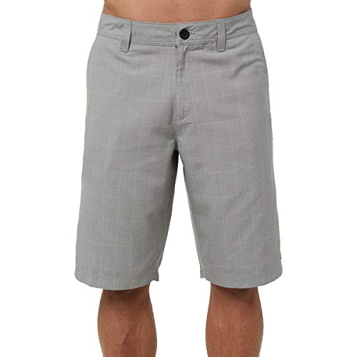 (O'Neill Men's 22 Inch Outseam Classic Walk Short, Grey/Westmont Plaid, 32)