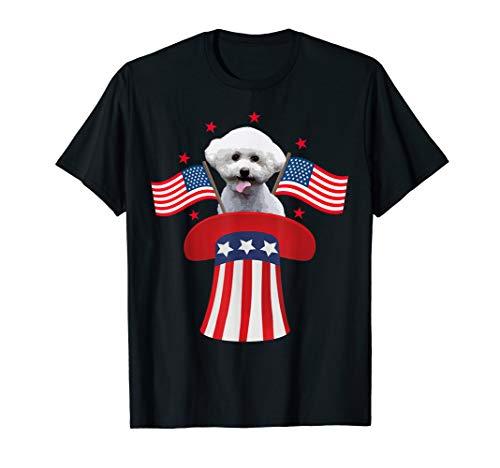 - Magic Bichon-Frise-American-Flag 4th-Of-July T-Shirt