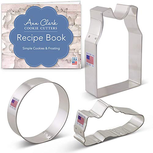 Basketball/Volleyball Cookie Cutter Set with Recipe Booklet - 3 piece - Ann Clark - US Tin Plated Steel