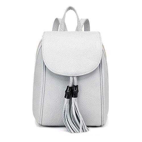 Sac Dos Classique Couleur Loisirs PU Zipper White Simple ZHXUANXUAN Femme Gland Multifonction à wqzxPRAAU