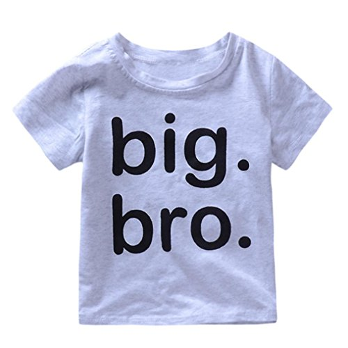 Moonker Baby Tops for 1-5 Years Old,Kids Toddler Baby Boys Letter Print Big Bro 2018 Summer New Soft Cute Tees T-Shirts (6-12 Months, Gray) from Moonker