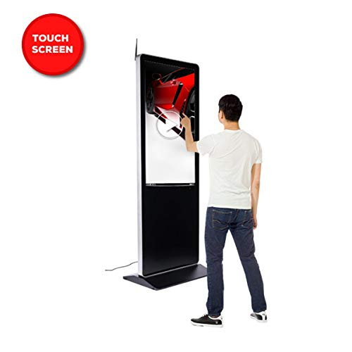(Floor Standing Digital Signage Display Advertising Kiosk w/LCD Touch Digital Screen Display Panel Built-in Media Player - 55 inch)