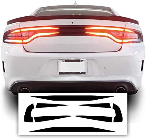 Bogar Tech Designs Tail Light Race Track Bat Vinyl Overlay Decal Cover Compatible with Dodge Charger 2015-2021 – Gloss Black