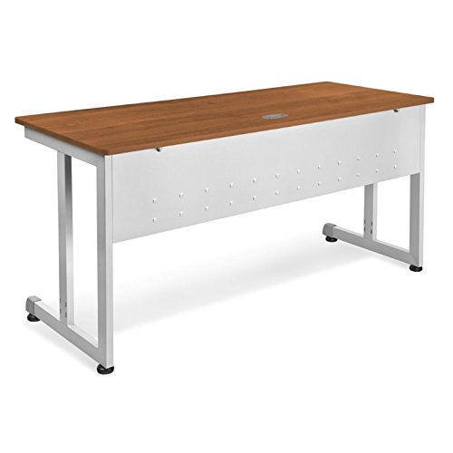 OFM Modular Training Desk With Wheels - Contemporary Durable Office Table, Cherry, 24