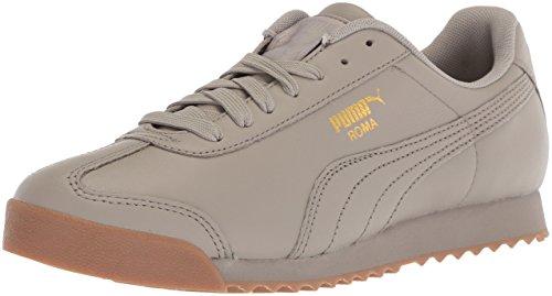 PUMA Men's Roma Classic Gum Sneaker, Rock Ridge Team Gold, 10.5 M US